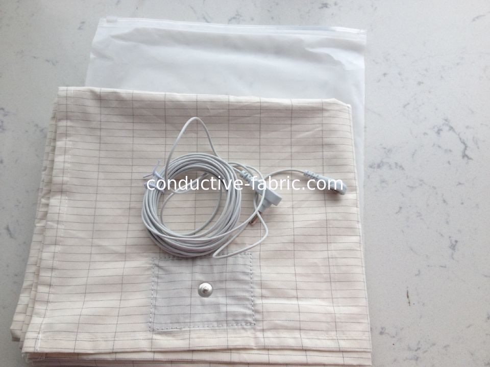 antistatic silver fiber+cotton conductive grouding sheet bed sheet