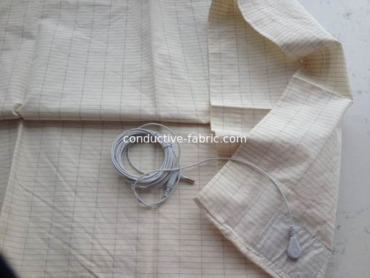anti EMF earthing/grounding pillowcase Ag-fiber+cotton